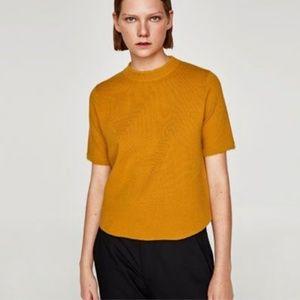 Zara Mustard Yellow Sweater